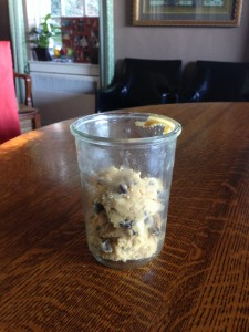 Xmas Present of Raw Cookie Dough (aside from the baked ones)
